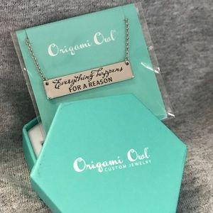 BN Silver Bar Origami Owl Necklace